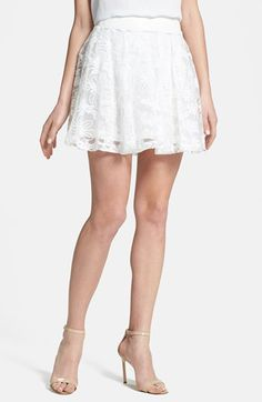 White Lace Skater Skirt by MinkPink. Buy for $44 from Nordstrom