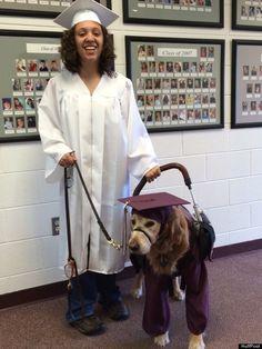Golden Retriever Service Dog Participates in Graduation