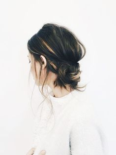 """Why """"Banana Buns"""" Is the Top Trending Hairstyle in France via @ByrdieBeauty"""