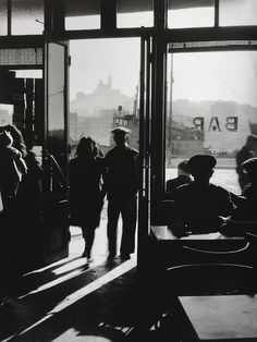 adanvc: Bar du vieux port. France, 1940s. by Willy Ronis