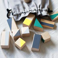 Wooden blocks - Autumn colours - 24 pieces - happylittlefolks - 2
