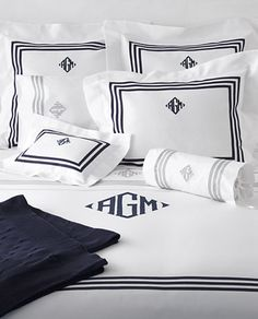 99 best monogrammed pillows linens images on pinterest