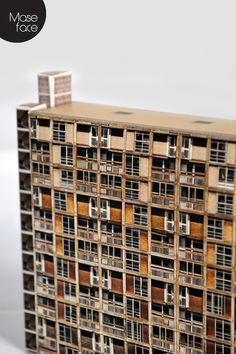 A brutalist architectural card cut-out model representing the iconic Park Hill Flats in Sheffield which were originally built between 1957 and 1961 and became Grade II listed in 1998 making it the largest listed building in Europe. Council Estate, Tower Block, Listed Building, Interior Architecture, Interior Design, Unusual Gifts, Brutalist, Beauty Art, Free Uk