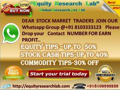https://flic.kr/p/RUX3Xz | Equity research lab special  offer image 07 february | Get Free Trading Tips and secure market tips with fair and accurate trading calls on daily markets point of views with high accuracy in share market tips, Stock Market Tips.
