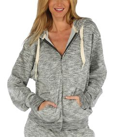 Love this Charcoal Abstract Stripe Zip-Up Hoodie by Exist on #zulily! #zulilyfinds