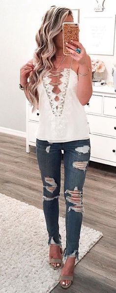 #fall #outfits women's white strapless tops