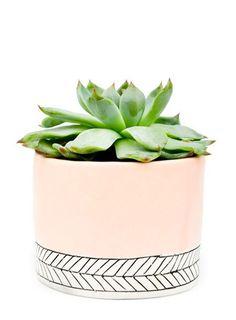 Pastel Herringbone Mini Planter