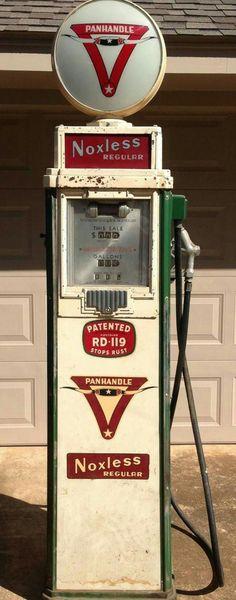 Original Panhandle Refining Company Gas Pump