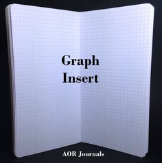Midori Insert 80 page Graph Insert for Midori or Fauxdori Travelers Notebook Covers. 9 Travelers Notebook Sizes 26 Cover Colors by AORJournals from AOR Journals by Ann. Find it now at http://ift.tt/2cmwz9i!