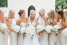 All white bouquets Ashton Gardens Atlanta Wedding Flowers by Design House Weddings Atlanta, GA