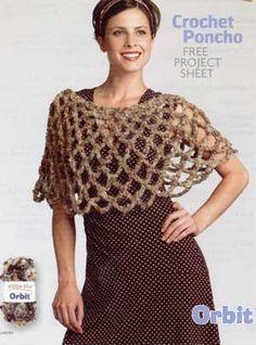 Crochet Poncho LM0183 | Free Patterns | Yarn