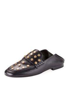 a13d1a047f70 X479J Isabel Marant Feenie Studded Flat Fold-Down Loafer Loafer Flats