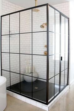 Corner steel shower