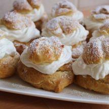 Ma recette du jour : Choux à la crème  sur Recettes.net