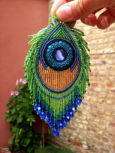 Embroidered peacock
