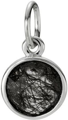 Pandora Dark Enchantment Charm/Pendant with Black Quartz