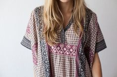 Emerson Fry for Mavenhaus Collective Caftan in Rhodolite - Bliss