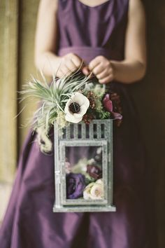 Winter wedding at Pie Ranch in Pescadero, CA.   Flower girl lantern design by The Cutting Garden.   Photo: Braedon Photography  Going Lovely < Event Design & Coordination in the San Francisco Bay Area California › Patience & John