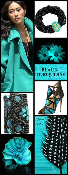 '' Black & Turquoise '' by Reyhan S.D.