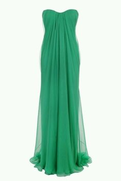 Beautiful green dress.