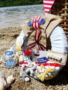 A red, white and blue nautical party - Ideas on DIY decor, food and favors for a fab summer party or July 4th celebrations! - BirdsParty.com