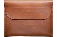 Leather iPad Sleeve made in Chicago by Defy Bags, via Kaufmann Mercantile