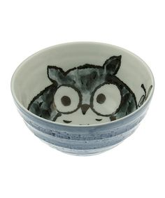 Little ones and adults will delight in this bowl that's completelykawaii, or absolutely adorable. Owl-inspired graphics combine with Japanese-made ceramic for a piece that's too sweet to believe.3.38'' H x 6.25'' diameterCeramicHand washMade in Japan