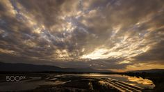 Eternity of flow - It is a magnificent flow of Japan's famous River and the sunset.