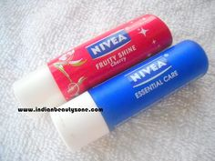 Hello Friends, Hope everybody doing great, today I am going to shareNivea Fruity Shine Cherry and Nivea Essential Care Review with you all. This is my HG lip balms and I have finished these Nivea lip balms just a week ago. It's an achievement for every girl to finish lip balms and lipsticks unless
