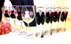 BRIDAL PARTY WEDDING GLASSES