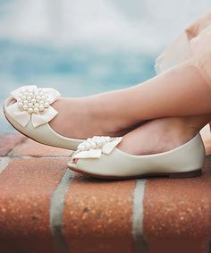 Love this Trish Scully Child Ivory Angelica Flat by Trish Scully Child on #zulily! #zulilyfinds