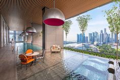 Overlooking the Lion City's skyline from JW Marriott Hotel Singapore South Beach. Find out all there is to know about the hotel at www.destinasian.com @jwmarriotthotels #JWMarriottSingapore #Singapore #Luxury #Travel