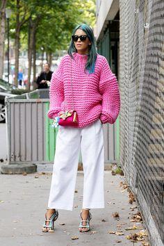 chunky knit. Paris.