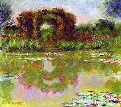 Claude Monet, Rose Arches at Giverny, 1913