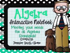 Algebra Interactive Notebook for Entire Year Bundle   This looks fabulous!