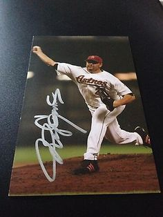 Roger Clemens HAND SIGNED 4x6 Team Astros Postcard w/COA RARE