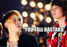 """LOL XD Why do I feel like he's actually saying this in his head? And Minho' s like """"Haters gonna hate I'm fabulous."""" XD"""