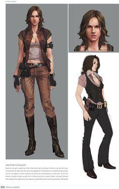 Helena Harper - Resident Evil 6 Art book