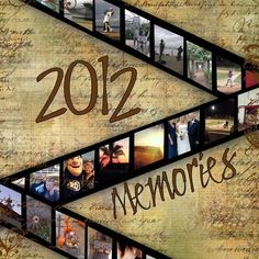2012 Memories ~ This would make a great opening layout for your yearly family albums. Scrapbook Cover, Scrapbook Titles, Scrapbook Designs, Scrapbook Sketches, Scrapbook Page Layouts, Scrapbook Cards, Scrapbook Examples, Scrapbooking 101, Scrapbook Supplies