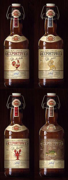 Kaluskie Exportowe Beer Bottles