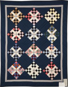 Replica Amish Patchwork quilt - New Hamburg Mennonite Relief Sale 2018 Amische Quilts, Baby Quilts, Amish Quilt Patterns, Antique Quilts, Patches, Blanket, Welsh, Antiques, Wall Hangings