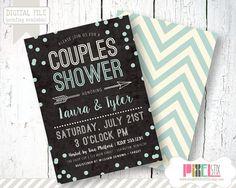 Couples Shower Invitation Confetti Couples Shower by shopPIXELSTIX