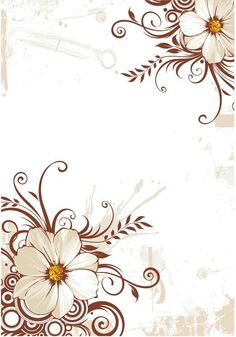 Flower swirls