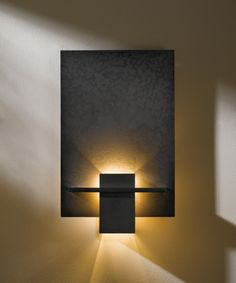 Direct wire wall sconce with glass options: Aperture Hubbardton Forge