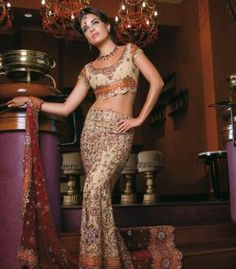 Gold/Rust Lengha
