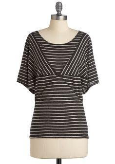 Stripe the Slate Clean Top $34.99 ModCloth