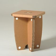 #Cardboard #stool #MrX - You can choose your favorite #colour - A solid handy cardboard stool. Easy to assemble with an interlocking system, it is a perfect space-saving solution when you need an extra seat for a guest more. - http://eco-and-you.com/en/shop/mr-x/