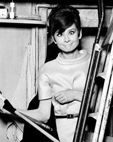 Audrey Hepburn on the set of How To Steal A Million (1966).