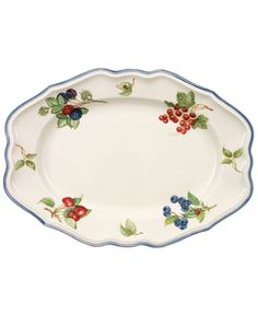 "Villeroy & Boch ""Cottage Inn"" Oval Platter, 14.5"""