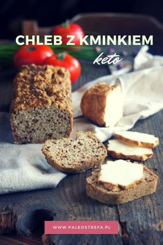 Chleb z kminkiem (keto) - Paleo Strefa Moniki Piaseckiej Lchf, Banana Bread, Paleo, Food And Drink, Low Carb, Cooking, Fitness, Desserts, Kitchen